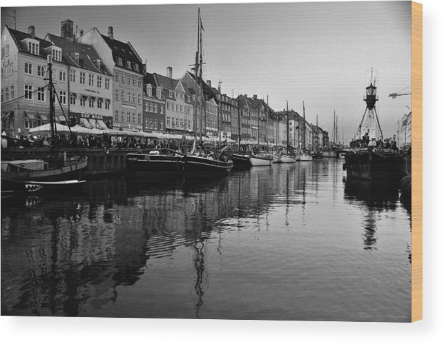Denmark Wood Print featuring the photograph 17th Century Scandinavian Canal by David Broome