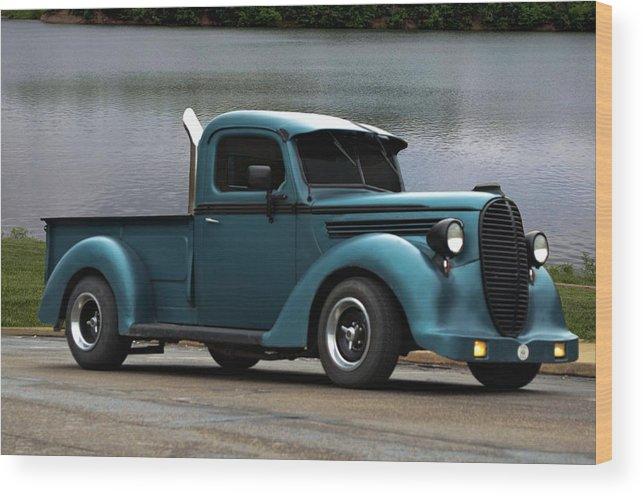 1938 Ford Truck >> 1938 Ford Pickup Truck Hot Rod Wood Print