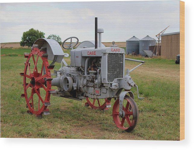 1940 Wood Print featuring the photograph 1940 Case Tractor by Trent Mallett