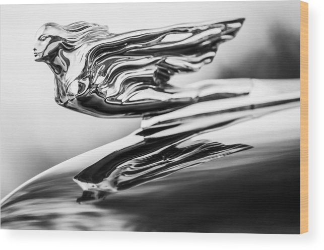 1941 Cadillac Wood Print featuring the photograph 1941 Cadillac Hood Ornament 4 by Jill Reger