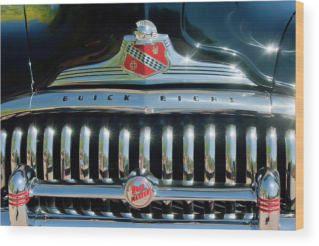 1947 Buick Wood Print featuring the photograph 1947 Buick Sedanette Grille by Jill Reger
