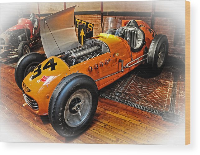 Roadster Wood Print featuring the photograph 1952 Indy 500 Roadster by Mike Martin