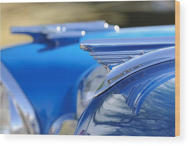 1957 Oldsmobile Wood Print featuring the photograph 1957 Oldsmobile Hood Ornament 3 by Jill Reger