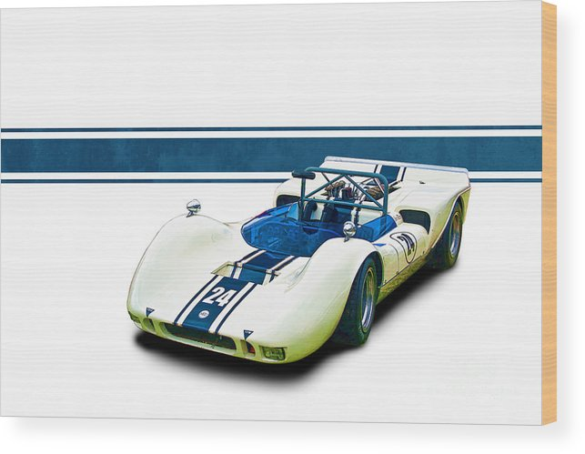 1969 Wood Print featuring the photograph 1969 Mrc Mkii Repco Brabham by Stuart Row