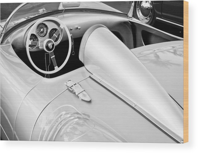 1955 Porsche Spyder Wood Print featuring the photograph 1955 Porsche Spyder by Jill Reger