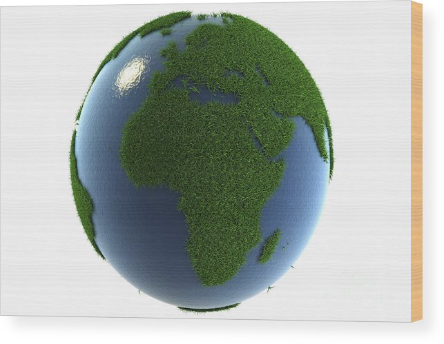 Planet Wood Print featuring the photograph A Greener Earth by Science Picture Co