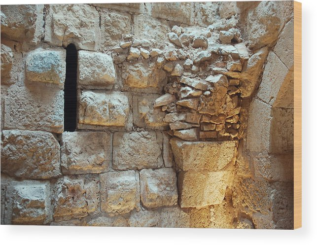 Wood Print featuring the photograph Ajloun by Virginie Vanos