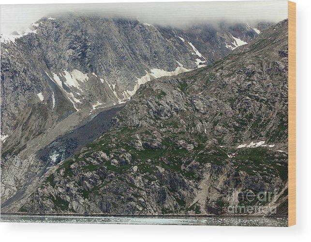 Alaska Wood Print featuring the photograph Alaska Glacier by Sophie Vigneault