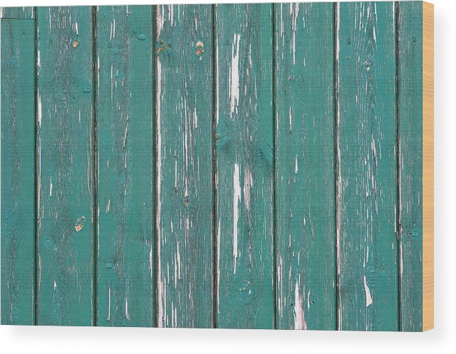 Abstract Wood Print featuring the photograph Battered Wooden Wall by Fizzy Image