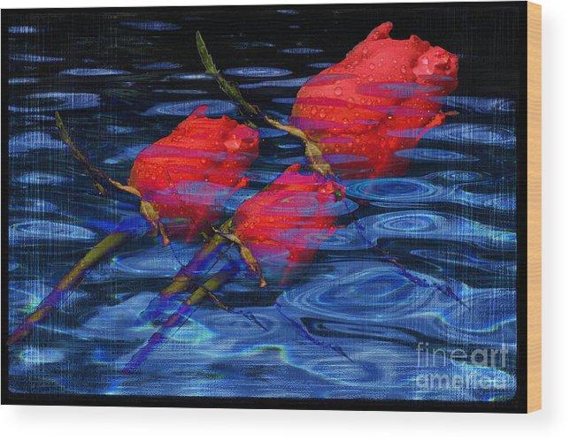 Rose Image Wood Print featuring the digital art Be Mine by Yael VanGruber
