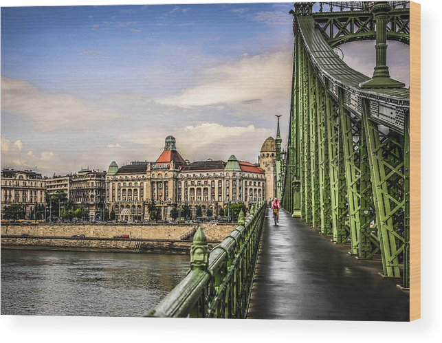 Zsbadsag Wood Print featuring the photograph Budapest Bridge by Chris Smith