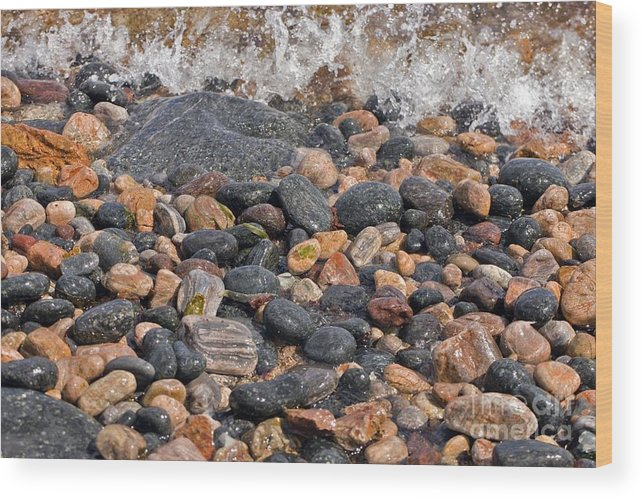 Rock Wood Print featuring the photograph Coastal Rocks And Pebbles by Dr Keith Wheeler