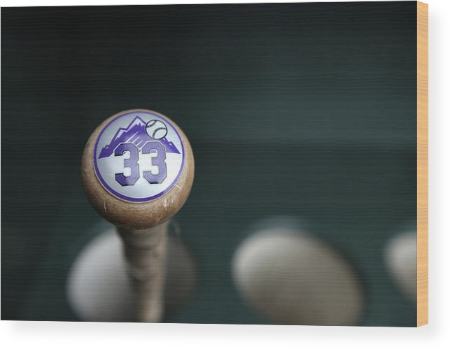 San Francisco Wood Print featuring the photograph Colorado Rockies V. San Francisco Giants 2 by Brad Mangin