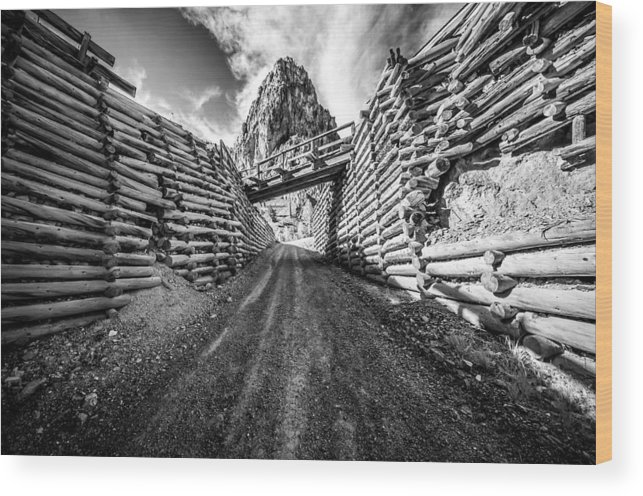 Mine Wood Print featuring the photograph Commodore Mine by Nathan Gingles
