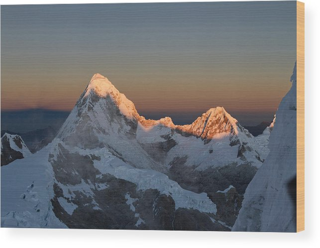 Peru Wood Print featuring the photograph Cordillera Blanca by D Scott Clark