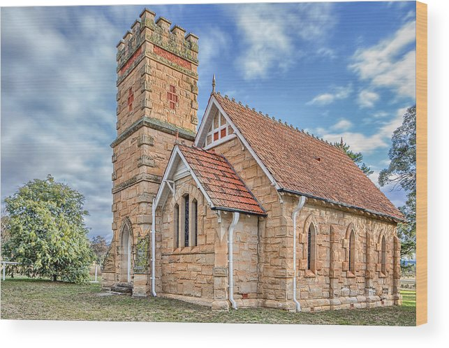 Church Wood Print featuring the photograph Havilah Church by Damian Brakel