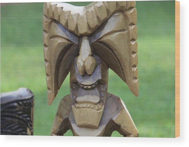 Artwork Wood Print featuring the photograph Hawaiian Sculpture by Dick Willis