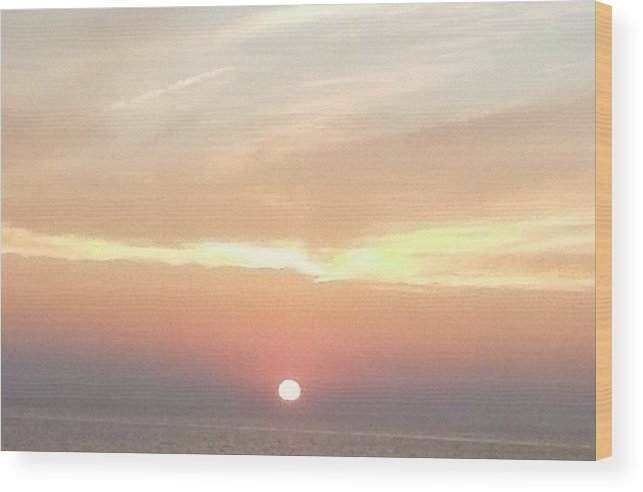 West Wood Print featuring the painting lake Michigan sunset by Erica Darknell