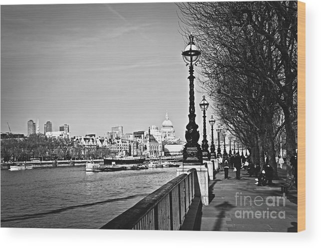 London Wood Print featuring the photograph London View From South Bank by Elena Elisseeva