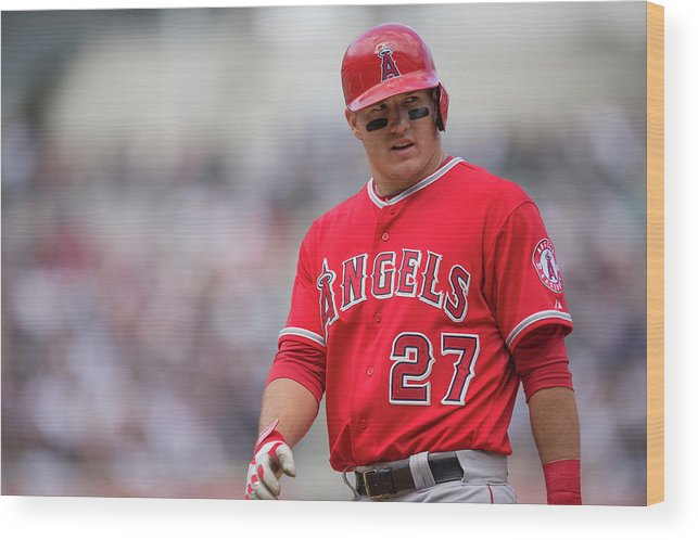 People Wood Print featuring the photograph Los Angeles Angels Of Anaheim V New 2 by Rob Tringali