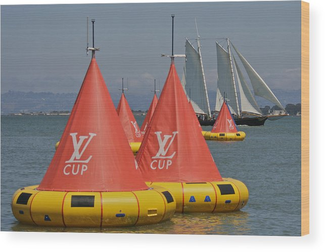 Cup Wood Print featuring the photograph San Francisco America's Cup by Steven Lapkin