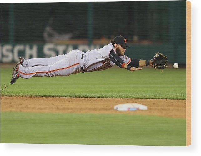 Ninth Inning Wood Print featuring the photograph San Francisco Giants V St. Louis by Dilip Vishwanat