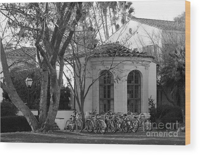 Athenas Wood Print featuring the photograph Scripps College by University Icons