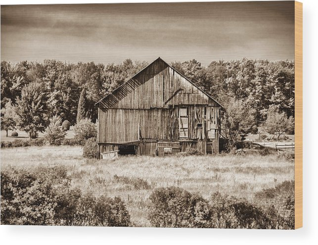 Barn Wood Print featuring the photograph Still Standing by Guy Whiteley