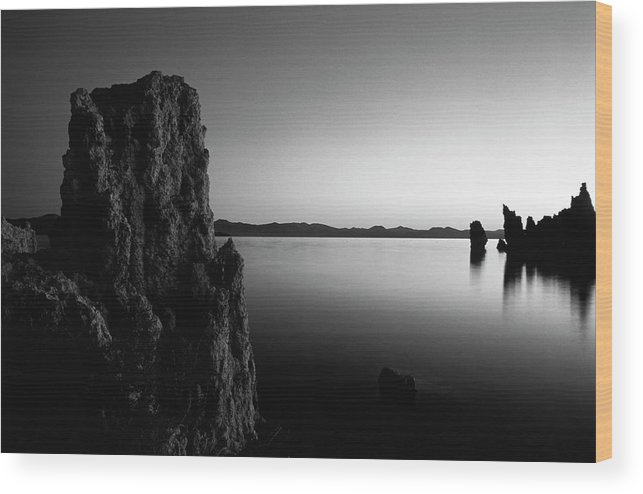 Adnt Wood Print featuring the photograph Usa, California, Eastern Sierra, Mono by Inger Hogstrom