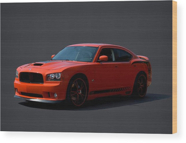 2009 Wood Print featuring the photograph 2009 Dodge Srt8 Super Bee by Tim McCullough