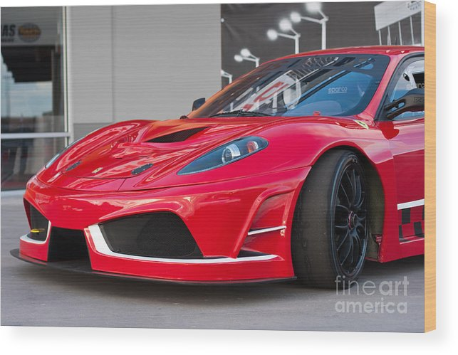 430 Wood Print featuring the photograph 2012 Ferrari F-430 by Gunter Nezhoda