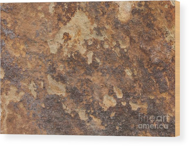 Nature Wood Print featuring the photograph Natures Rock Art by Jack R Brock