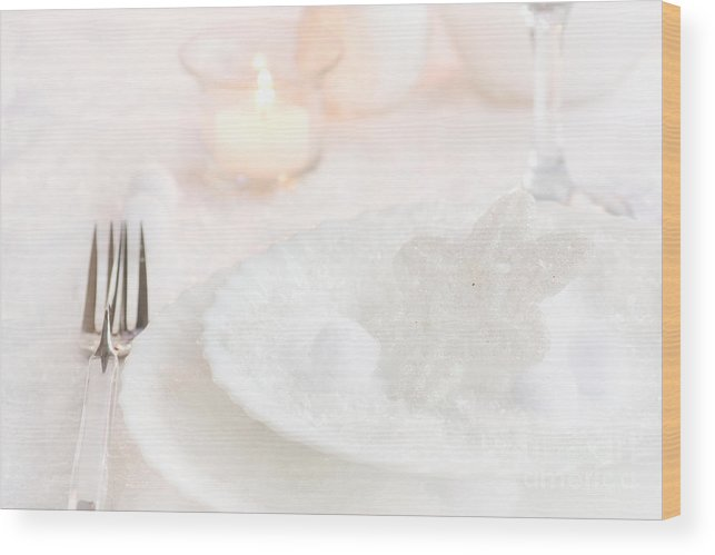 Advent Wood Print featuring the photograph Christmas Dinner by Mythja Photography