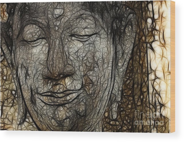 Buddha Wood Print featuring the photograph Face Of Buddha by Bob Christopher