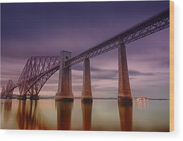 Wood Print featuring the photograph Forth Rail Bridge by Jean-Noel Nicolas