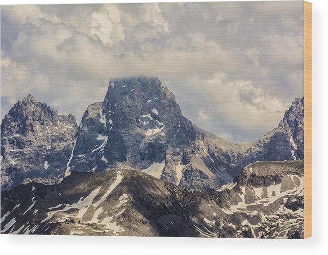 Grand Targhee Wood Print featuring the photograph The Grand Tetons by Brandon Cale