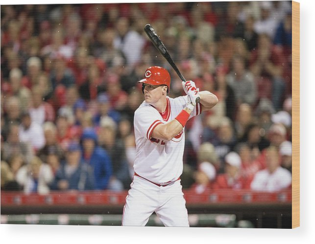 Great American Ball Park Wood Print featuring the photograph Chicago Cubs V Cincinnati Reds 4 by Taylor Baucom