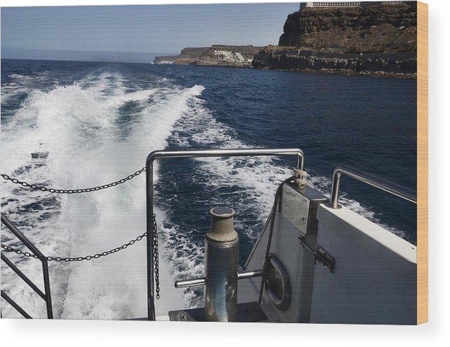 Wood Print featuring the photograph Ferry Hasta Puerto De Mogan by Virginie Vanos