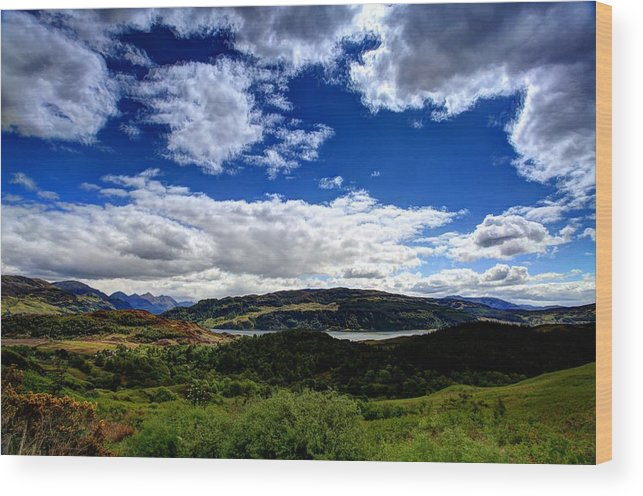 Scotland Wood Print featuring the photograph Loch Duich Scotland by Ollie Taylor