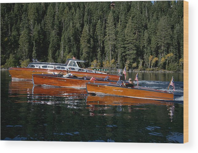 Skiff Wood Print featuring the photograph Classic Runabouts by Steven Lapkin