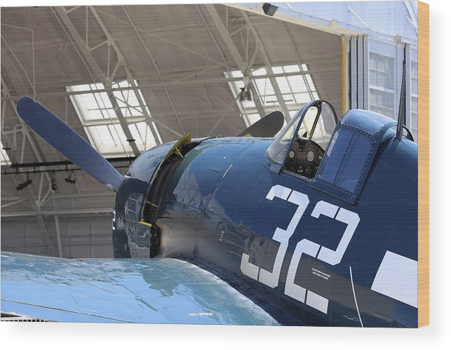 Grumman Wood Print featuring the photograph Grumman Hellcat by Paul Fell