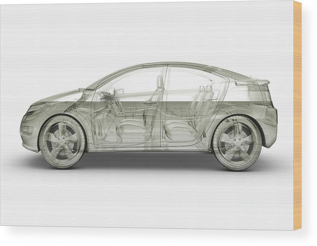 Technology Wood Print featuring the photograph Hybrid Car by Science Picture Co