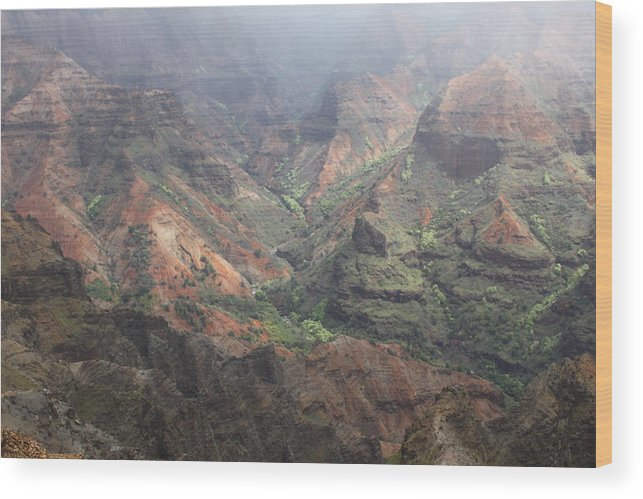 Canyon Wood Print featuring the photograph Waimea Canyon by Dick Willis
