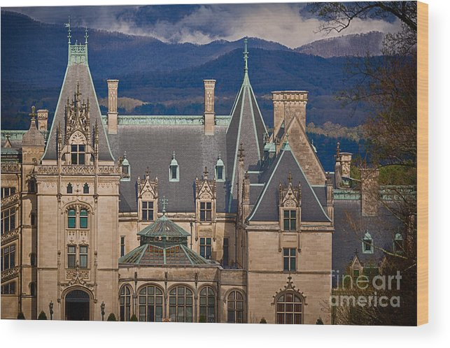 Asheville Wood Print featuring the photograph Biltmore Estate by Doug Sturgess
