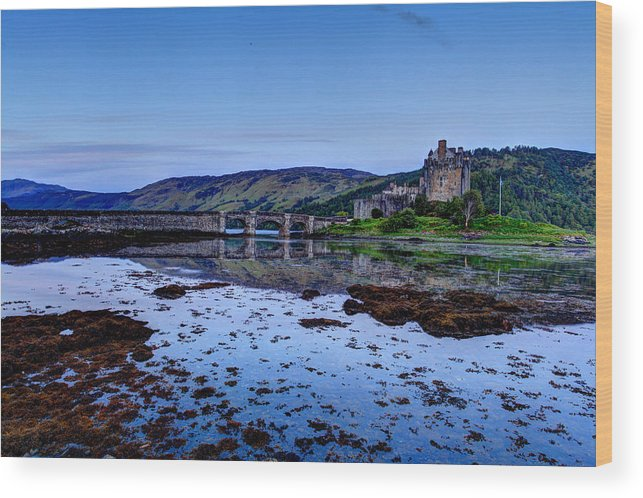 Europe Wood Print featuring the photograph Eilean Donan Castle by Ollie Taylor