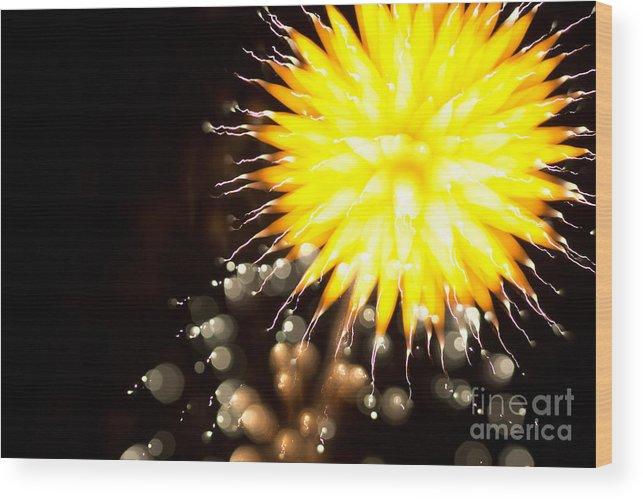 4 Wood Print featuring the photograph Fireworks Art by Benjamin Simeneta