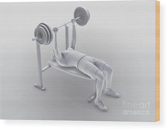 Full View Wood Print featuring the photograph Exercise Workout by Science Picture Co