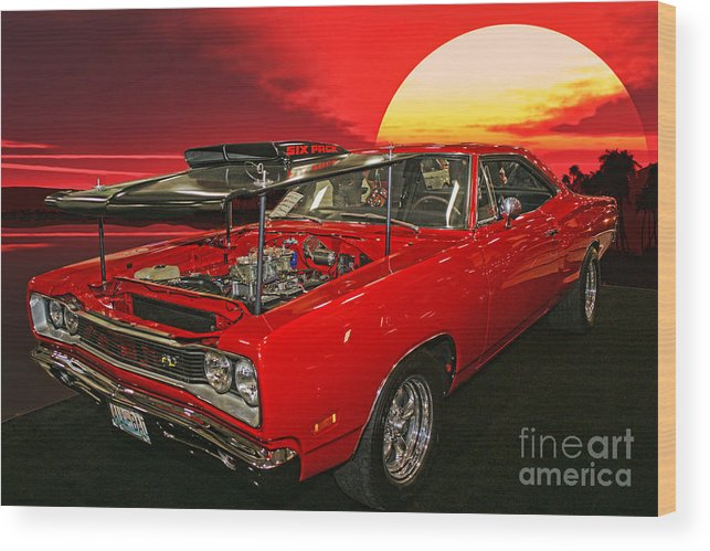 Cars Wood Print featuring the photograph 69 Dodge Super Bee by Randy Harris