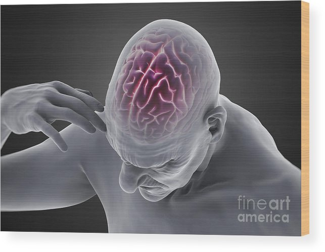 Head Pain Wood Print featuring the photograph Head Ache by Science Picture Co
