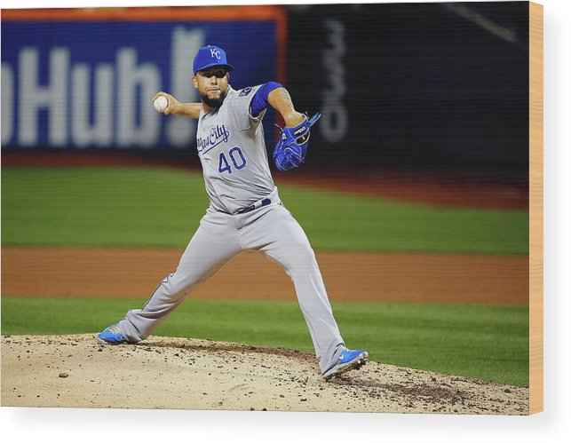 People Wood Print featuring the photograph World Series - Kansas City Royals V New 7 by Al Bello
